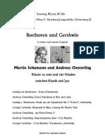 Beethoven und Gershwin - Musik zu 2 und 4 Händen Martin Schumann Andreas Oesterling
