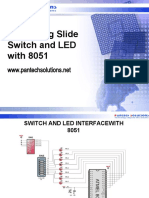 Interfacing switch and led with 8051