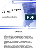 Interfacing zigbee board with 8051