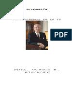 BIOGRAFÍA DEL PRESIDENTE GORDON B. HINCLKEY