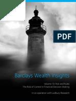 ¿Inversores irracionales? Informe de Barclays Wealth