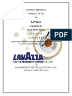 Inrternship Report 2011 of Lavazza