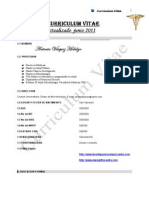 Curriculum Vitae Dr. Antonio Vásquez Hidalgo junio 2011