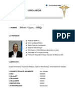 Curriculum Vitae Dr. Antonio Vásquez Hidalgo 2012