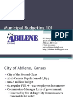Municipal Budgeting 101
