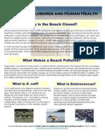 Beach Closures and Human Health