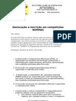 ACP Regulamento de inscições e deslocações Outubro de 2010