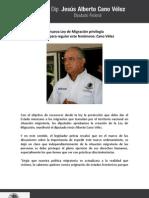 07-06-11 La nueva Ley de Migración privilegia acciones para regular este fenómeno
