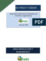 Cebada y Trigo en Colombia 2010