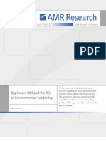 Technology Green Innovations PDF Amr Research Report 20313-Big Green Ibm and the Roi of Environmen