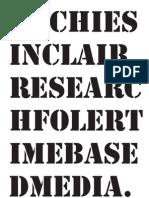 Research Folder - Archie Sinclair TBM