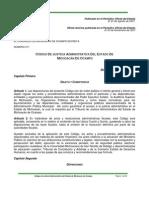 Codigo de Justicia Administrativa Del Estado de Michoacan de Ocampo