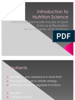 1 Introduction to Nutritions