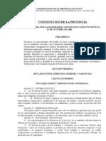 Constitucion de La Provincia de Jujuy