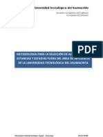 Metodologia Para La Evaluacion de Alumnos Para Estancia y Estadia Foraneas