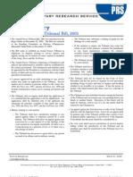 Summary 1167473606 Bill Summary the Armed Forces Tribunal Bill 2005