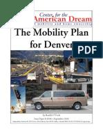The Mobility Plan for Denver