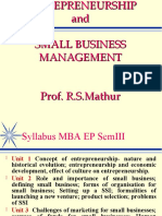 RSM UnitI Entrepreneurs and Small Biz Mngmnt.