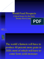 World Food Prospects