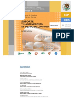 plan de estudios de Soporte y Mantenimiento de Equipo de Computo (informATICA)
