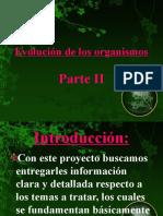 evolucion delos organismos  2° parte 3°H