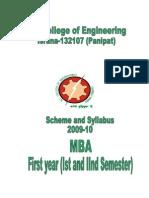 Booklet MBA 1st 2nd Sem2