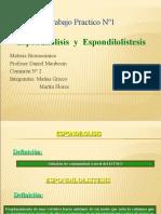 ESPONDILOLISIS ESPONDILOLISTESIS TP
