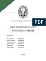 Propuestas tercio 2011-2012