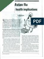 Avian Flu- Why Fear Psychosis- By Dr. Rajan R Patil