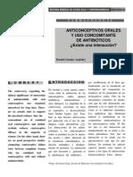 ANTICONCEPTIVOS ORALES Y USO CONCOMITANTE DE ANTIBIÓTICOS