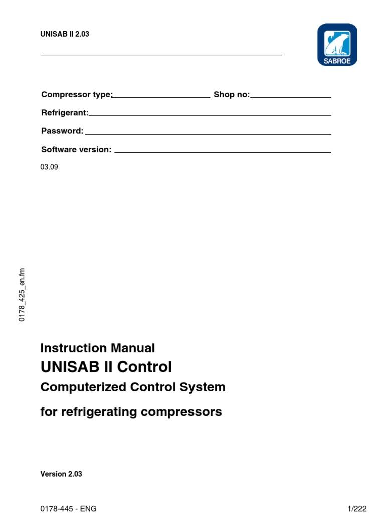 unisab ii 0178 445 eng logo 1 gas compressor point of sale rh scribd com 041 0178 00 Belt 041 0178 00 Belt