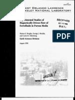 1999 LBNL Ferrofluid Flow in Porous Media[1]