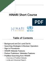 HINARI Short Course English 03 2009