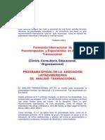 Formacion Internacional en Analisis Transaccional