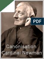 Canonisation Card. Newman – Hubert_Luns