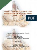 Certificarea Produselor Agroalimentare Ecologice
