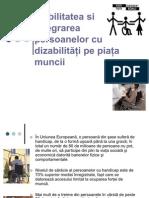 Integrarea Pe Piata Muncii a Persoanelor Cu Dizabilitati