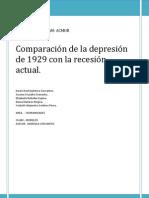 Comparacion Depresion 1929 Con Actual