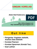 Statistik Lingk- Slide Ix - Uji Korelasi Spearman Dan Pearson