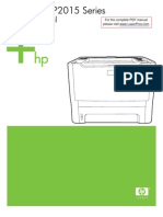 HP LJ P2015 Manual Toc
