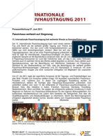 Nachlese 15.Passivhaustagung Innsbruck 2011