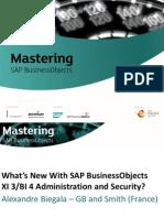 SAP BOBJ BI4 new security concepts