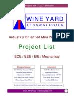 Mini Projects List