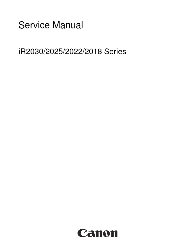 Canon Ir2030_series - Service Manual | Image Scanner | Signal (Electrical  Engineering)