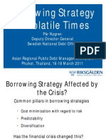 Borrowing Strategy in Volatile Times