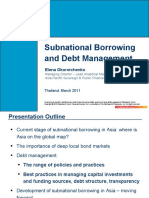 Subnational Borrowing and Debt Management