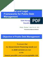 Institutional and Legal Frameworks for Public Debt Management