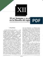 XII El Ser Humano y Su Obrar Siglo XX