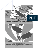 War Profiteering and Peace Movement Responses - International Seminar / Barcelona / 30 Sept - 2 Oct