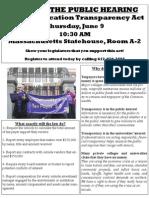 Leaflet for Public Hearing